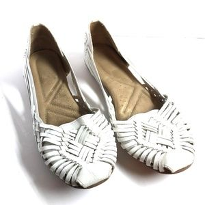 NATURALIZER White Genuine Leather Flats Shoes ~ 11